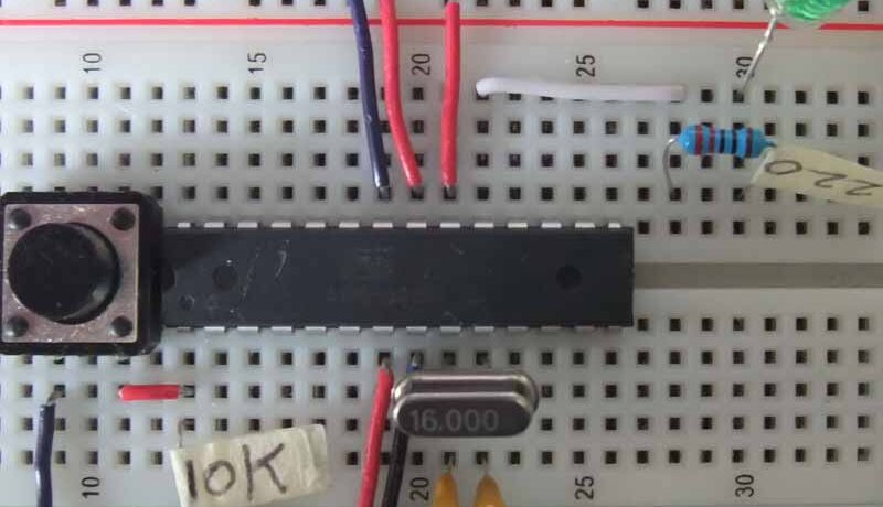 construir tu propio arduino en protoboard - Electrogeek