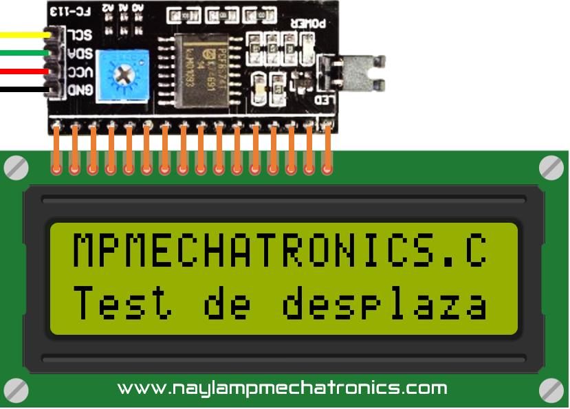 desplazamiento de texto con LCD I2C