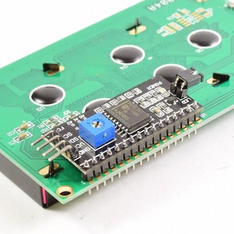 conexion adaptador LCD a I2C
