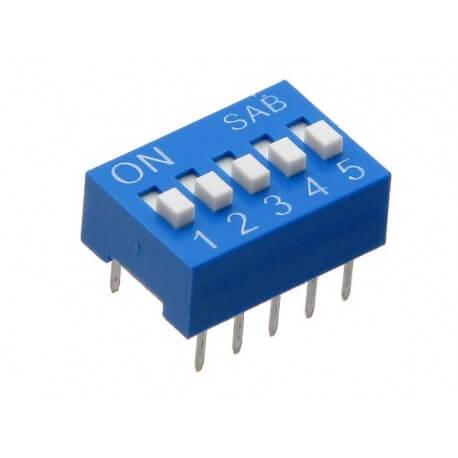 dip switch 5 bits - Electrogeek