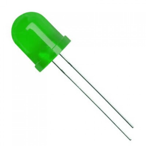 super bright 10mm diffused led green - Electrogeek
