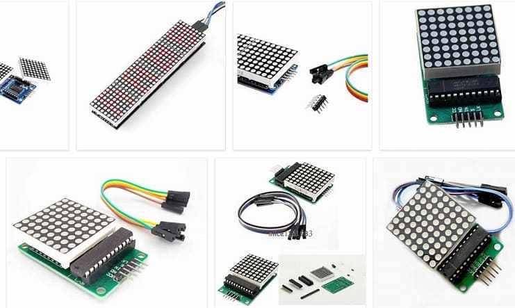 max7219 pantalla de matriz de puntos led y arduino 5ee3e50da4c6b - Electrogeek