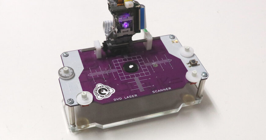 un microscopio de escaneo laser hecho de piezas de dvd 601b412b84f78 - Electrogeek