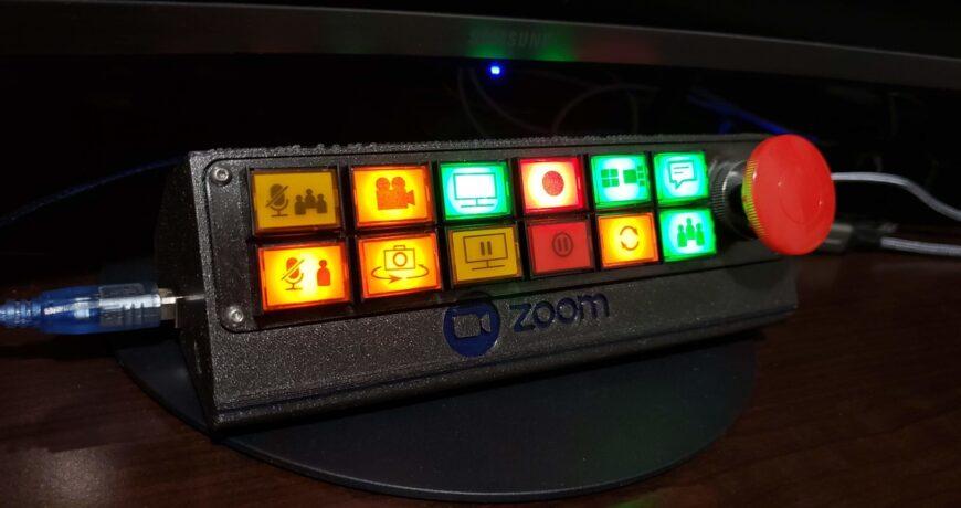 un panel de control con botones para sus llamadas de zoom 601f35bb86bd5 - Electrogeek