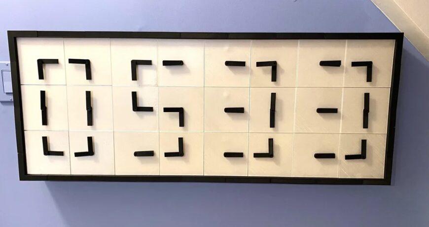 este reloj digital utiliza 24 caras analogicas controladas por arduino 6042ce4990f63 - Electrogeek