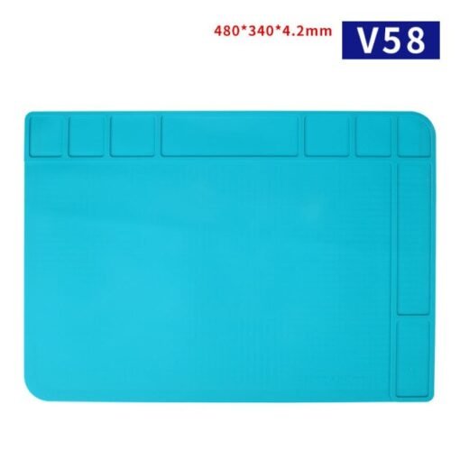 Mechanic Mobile Phone Motherboard Maintenance Blue High Temperature Resistant Work Mat Silicone Rubber Storage - Electrogeek
